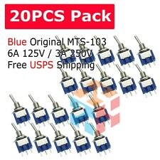 20pcs 3 Pin SPDT ON-OFF-ON 3 Position Mini Toggle Switches MTS-103 US Free Ship