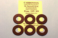 """CARBONTEX CARBON UPGRADE"" PENN 115 9/0 BLACK USA SENATOR REEL DRAG WASHER SETS"