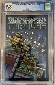 TMNT #1 CGC 9.8 MISPRINT/ERROR-RECALLED 1st Color Printing Turtles 2009 Special