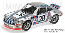 MINICHAMPS 107736526 PORSCHE - 911 CARRERA RSR 2.8 MARTINI équipe de course