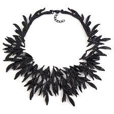 Zara Elegante Cuello Picos Negro Collar Nuevo