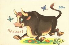 CARTE POSTALE CHOCOLAT TOBLER FANTAISIE ILLUSTRATEUR WALT DISNEY FERDINAND