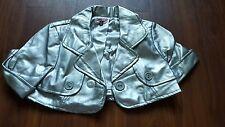 Max Rave silver faux leather short jacket juniors medium M