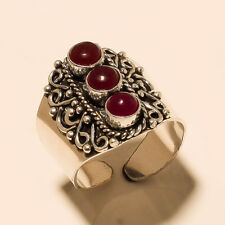 Handmade Ring Fashion Jewelry Silver Plated Ruby Gemstone
