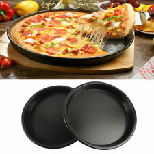 Round Microwave Oven Pizza Bacon Cooker Tray Non-stick Dish Plate Kitchen Tool