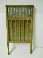 Vintage Washboard Galvanized Metal & Copper American Folk Art Farmhouse Decor