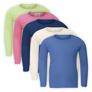 Girls Long Sleeve Classic Plain Top Children Baby Long Sleeve T-shirt Sweatshirt