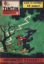 JOURNAL DE TINTIN N°521 - 16 OCTOBRE 1958 MACHEROT, ANTHRACITE S'EVADE