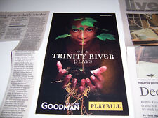 2011 GOODMAN THEATRE PLAYBILL & REVIEW - THE TRINITY RIVER PLAYS - JERALD GATES