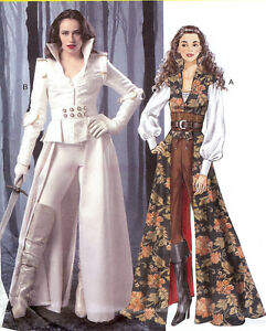 PATTERN for Modern Fairy Tale costume McCalls 6819 Sz 6-22 Once Upon A Time Coat