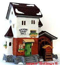Dept. 56 Stoder Grist Mill Retired 1997 Alpine Village 59536 New in Box