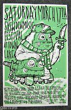 Punk Mastodon  SXSW Music Fest Concert Poster Austin Texas