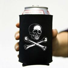Victorian Skull & Bones Pirate Beer Soda Can Koozie Koolie Goth Insulator