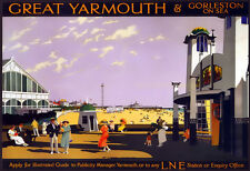 Great Yarmouth and Gorleston on Sea by Rail    Train Rail Travel  Poster Print