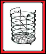 CHROME PLATED KITCHED TOOL CUTLERY UTENSIL HOLDER STAND ORGANISER RACK CADDY 766