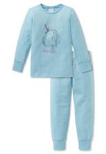 Schiesser Schlafanzug lang Mädchen Einhorn Bündchen Baumwolle Single Jersey NEU