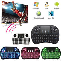 2.4GHz Mini Backlit Wireless Touchpad Keyboard Air Mouse For PC Android TV Box