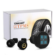 Car TPMS Tire Pressure Monitoring System Wireless &4-Sensors +Cigarette Lighter