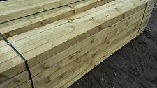 8ft/2.4m - 75mm x 75mm / 3'x3' Pressure Treated Incised Fence Posts