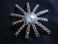 Metal Snowflake Brooch Jewelry Holiday Accessories