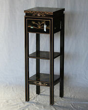 Black Lacquer Wooden Square Stand Model J3213-BK