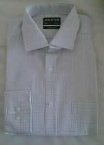 MENS Classic Fit LONG SLEEVED SHIRT EX DEBENHAMS COLLECTION SIZES 14.5 - 19.5