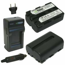 Wasabi Power Battery (2-Pack) and Charger for Sony NP-FM500H