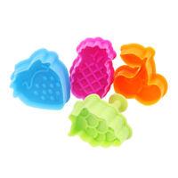 4pcs / set bricolage cuisson moule forme de fruits 3d cookie cutter biscuit mLDN