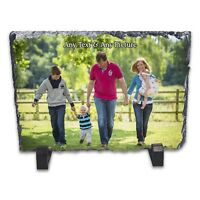 Personalised Any Text/Image Rock Slate Photo Frame - Rectangle