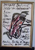 Norddeutsche Künstler: Irmgard Dahms, Farbkreide, überarbeitete Lithografie,1984