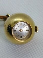 VINTAGE RADO NECKLACE WATCH 17 JEWELS GOLD PLATED