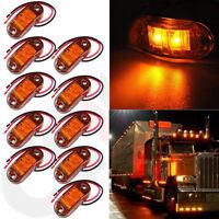 10PCS Amber LED Side Marker Light Clearance Lamp Car Van Truck Trailer Caravan