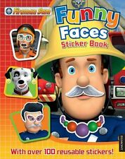 Fireman Sam: Funny Faces (Funny Faces Sticker Book) NEW FREE P&P