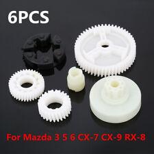 6PCS Window Motor Gear Regulator Replacement Set Fit Mazda 3 5 6 CX-7 CX-9 RX-8
