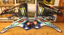 2005 YAMAHA YZ250F   LEFT & RIGHT FUEL TANK COVERS WITH GRAPHICS