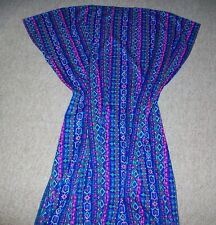 Vintage Handmade Housecoat MooMoo Woman's Lounge Bright Color One Size Fits All