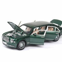 1:24 Scale Bentley Mulsanne Limousine Model Car Diecast Vehicle Green Collection