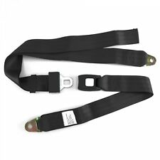 2pt Black Lap Seat Belt Standard Buckle - Each SafTboy ESTAUG hot rod rat