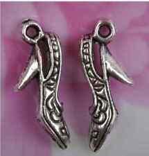 NP369 Wholesale 10pcs Tibetan Silver shoes Charm pendant 21X7MM