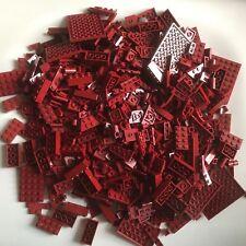 800 LEGO brand new DARK RED building parts LOT bricks STAR WARS MARVEL MINECRAFT
