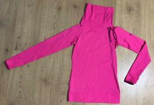 Nike Pro Hyperwarm Athletic Thermal Shirt Hot Pink Cowl Neck Women's XS 604947