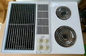 Jenn-Air C206W Cooktop Downdraft Electric White with Grill