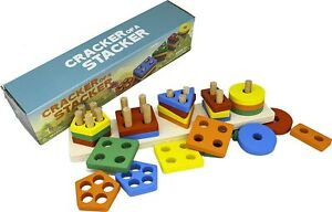 Cracker of A Stacker Wooden Stacking Toy Preschool Toys for Kids Great Gifts