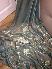 """1 MTR QUALITY GREEN/GOLD SHIMMER CHIFFON FABRIC...58"""" WIDE £2.49"""