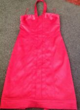 Stunning Halter Neck Red Satin Look Evening Bodycon Dress From Next Size 8