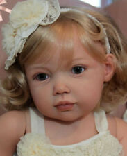 """Avalon By Jannie de Lange New Reborn Toddler Doll Kit @35""""@Body Included"""