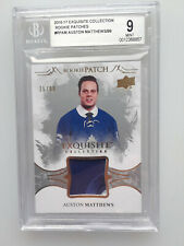 2016-17 UD Exquisite Collection Rookie Patches 25/99 Auston Matthews BGS 9 Mint