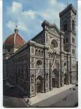 Old Postcard - The Cathedral and the bell tower of Giotto's