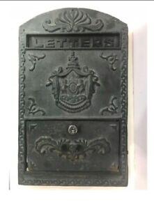 ANTIQUE ORIGINAL SOLID BRASS VICTORIAN LETTER BOX / PLATE