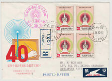 TAIWAN - 1983 Returned FDC cover from Singapore Dakota, many stamps ! (TW21)